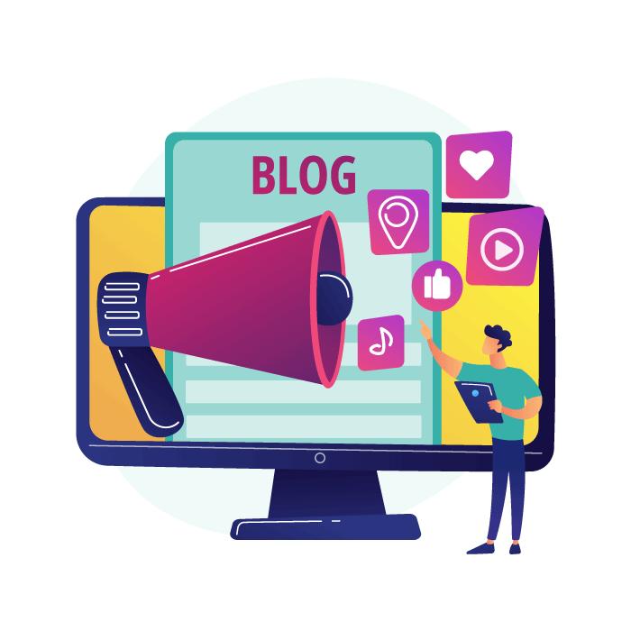 Marketing online con gestión de blog